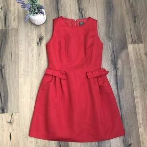 Taylor Red Cocktail Dress Pockets Size 6